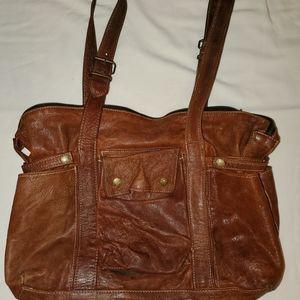 Not Rational Hansel cognac diaper bag